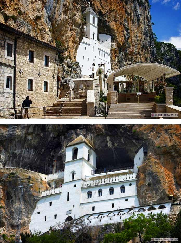 Монастырь Острог - одно из самых красивых мест Черногории