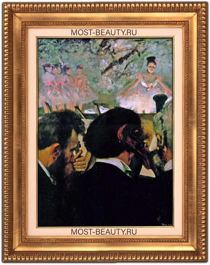 знаменитые картины Эдгара Дега: Музыканты в оркестре