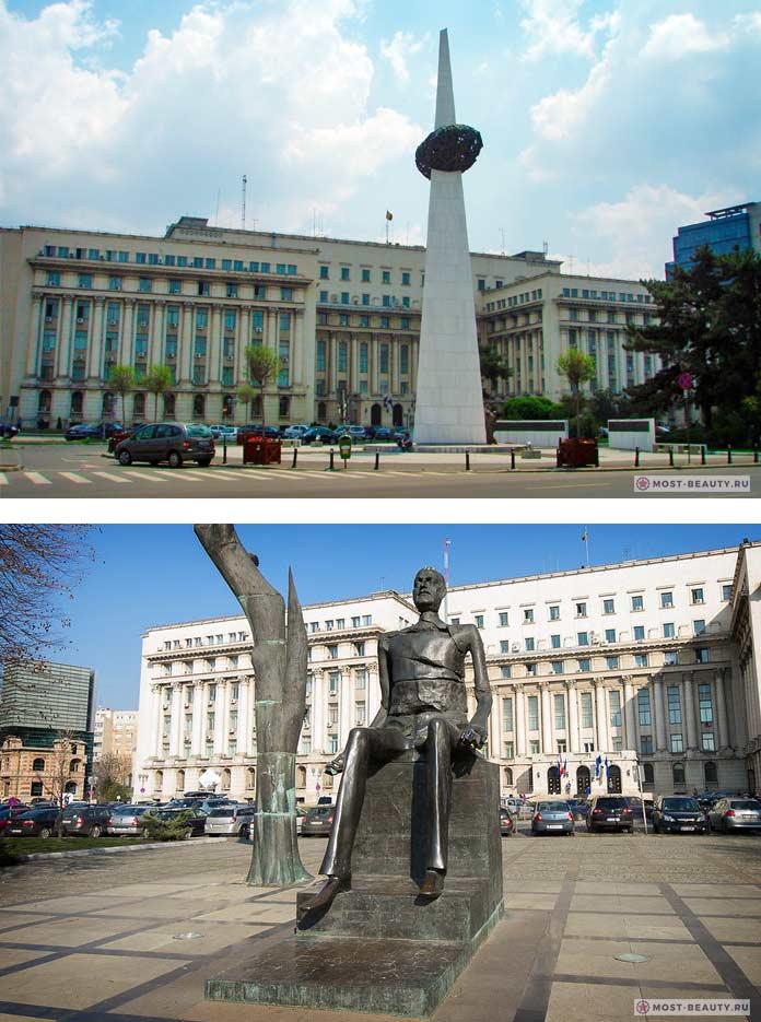 Памятник Возрождения и статуя Юлиу Маниу
