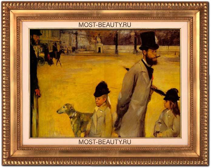знаменитые картины Эдгара Дега: Площадь Согласия