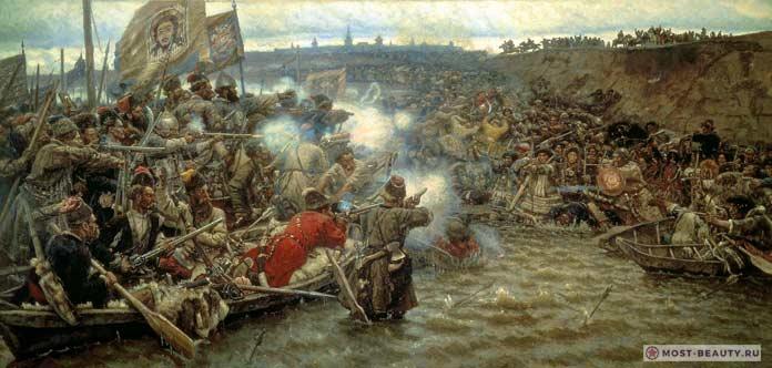 Самые красивые картины Сурикова: Покорение Сибири Ермаком