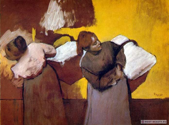 знаменитые картины Эдгара Дега: Прачки несут бельё в город