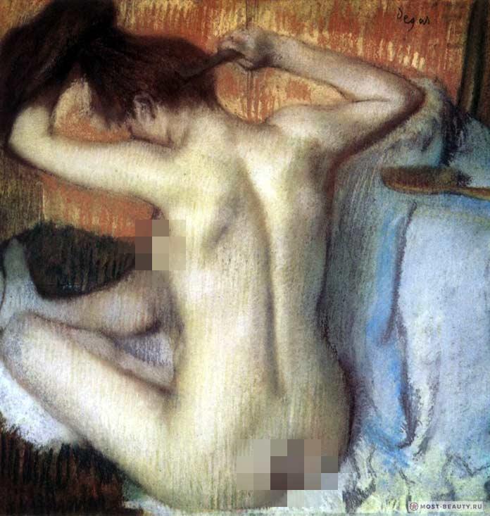 знаменитые картины Эдгара Дега: Причёсывающаяся женщина