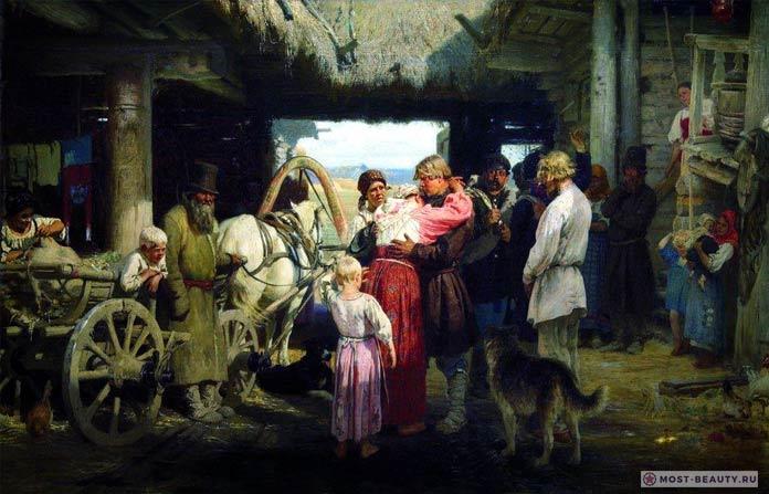Известные картины Ильи Репина: Проводы новобранца