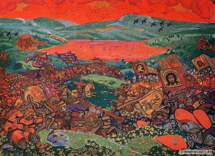 Известные картины Рериха: Сеча при Керженце