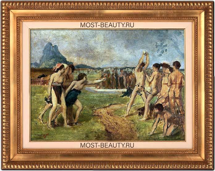 знаменитые картины Эдгара Дега: Упражнения юных спартанцев