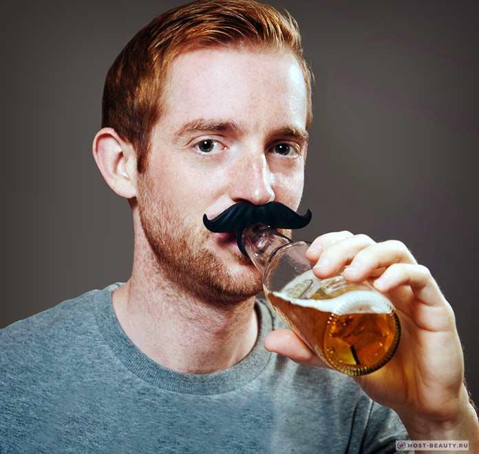 Что подарить любителям пива: Усы для бутылки