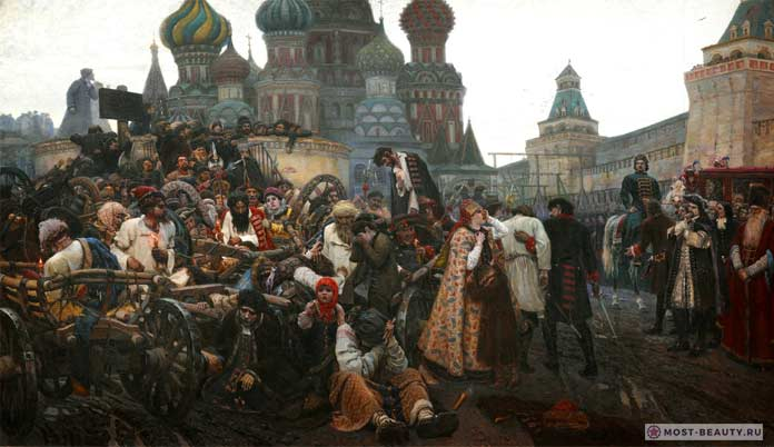 Самые известные картины Сурикова: Утро стрелецкой казни