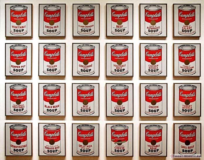 известные картины Энди Уорхола: Банка супа Кэмпбелл
