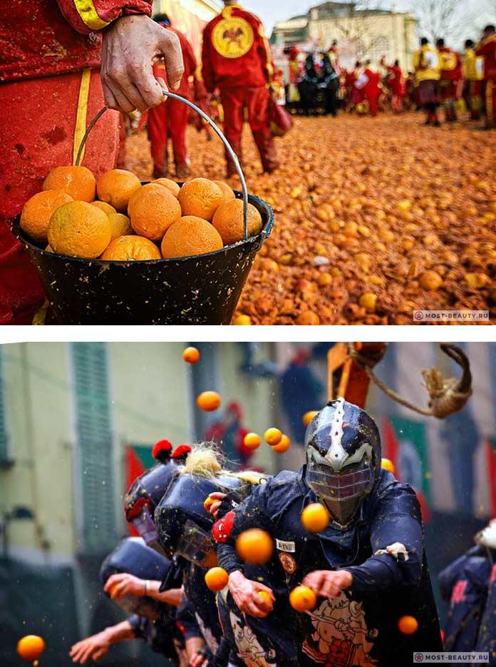 Битва Апельсинов - один из безумных фестивалей