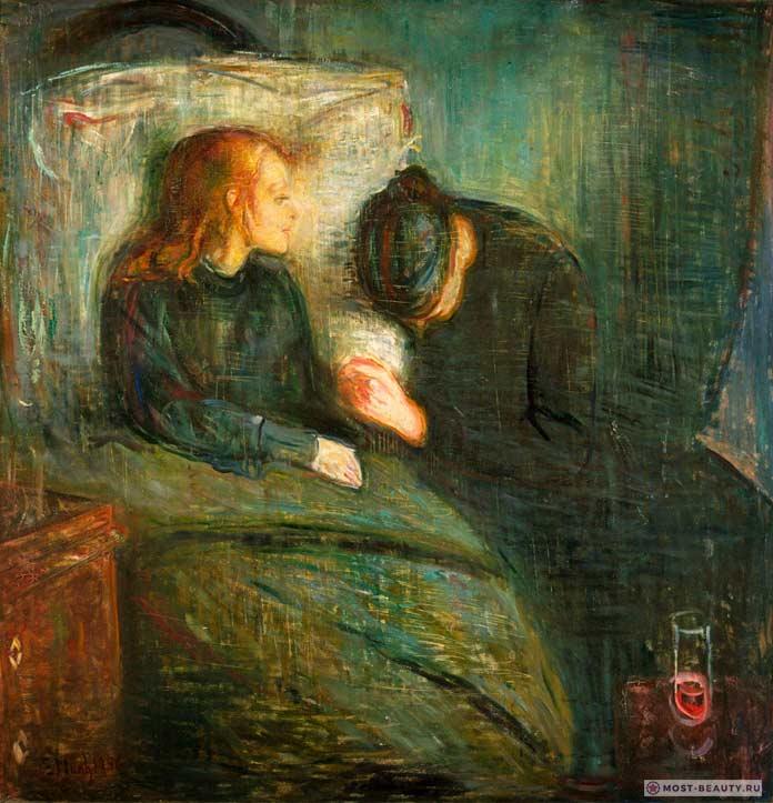 Картины Эдварда Мунка: Больная девочка
