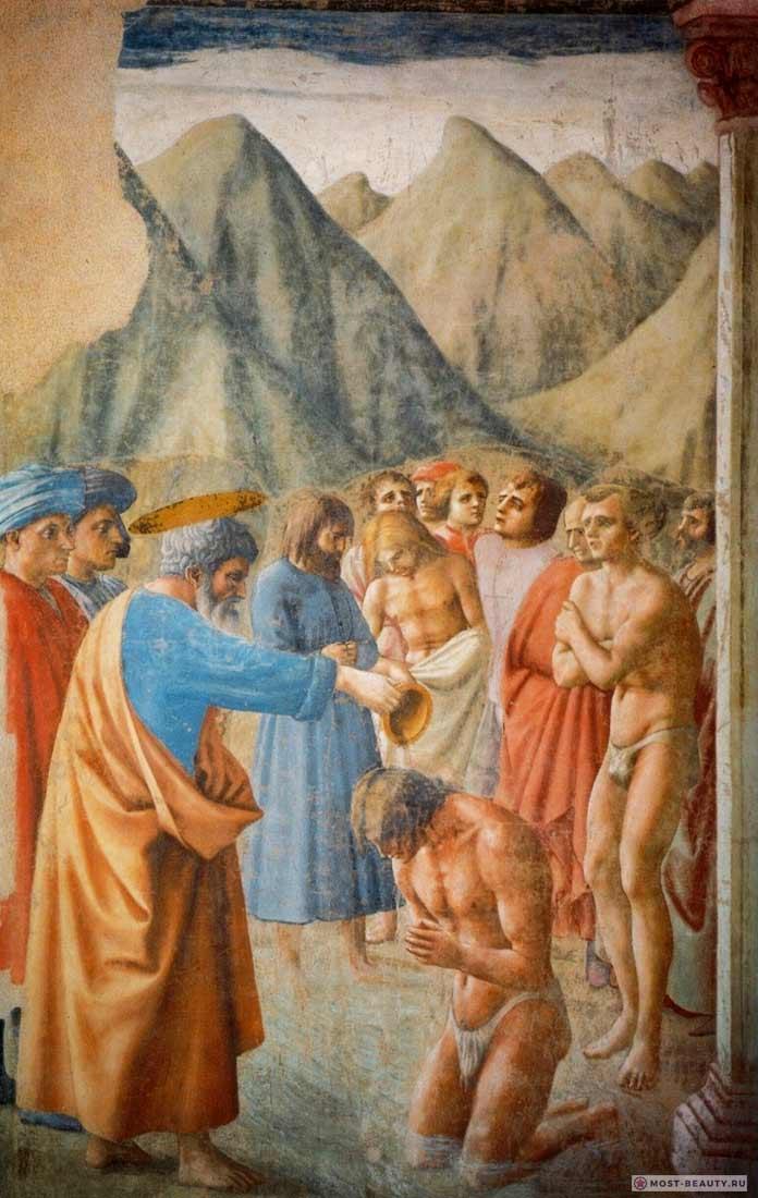 Фреска Крещение неофитов
