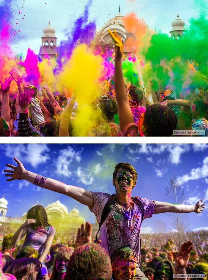 Холи - один из безумных фестивалей