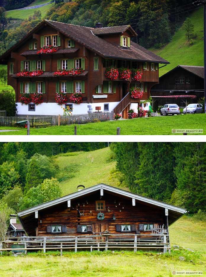 Шале - один из видов традиционных домов.