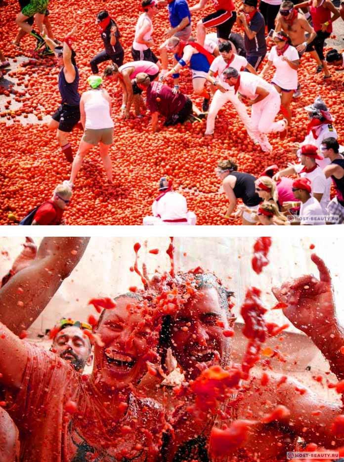 Томатина - один из безумных фестивалей