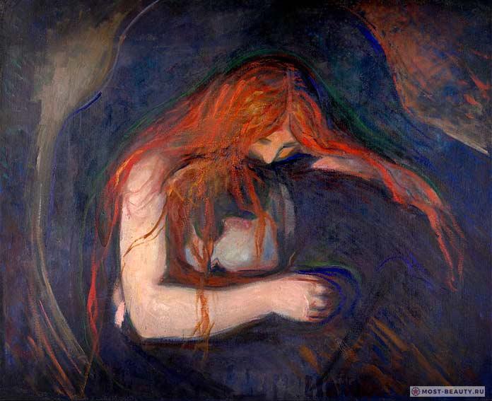 Картины Эдварда Мунка: Вампир