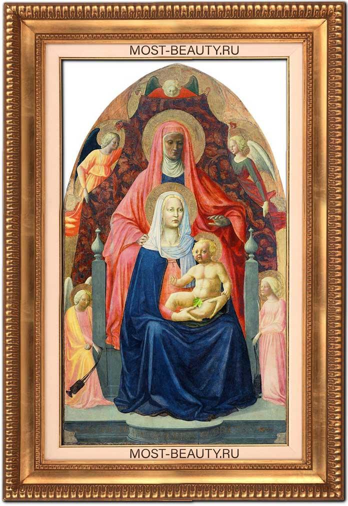 Лучшие картины Мазаччо: Мадонна с Младенцем и святой Анной (1425)