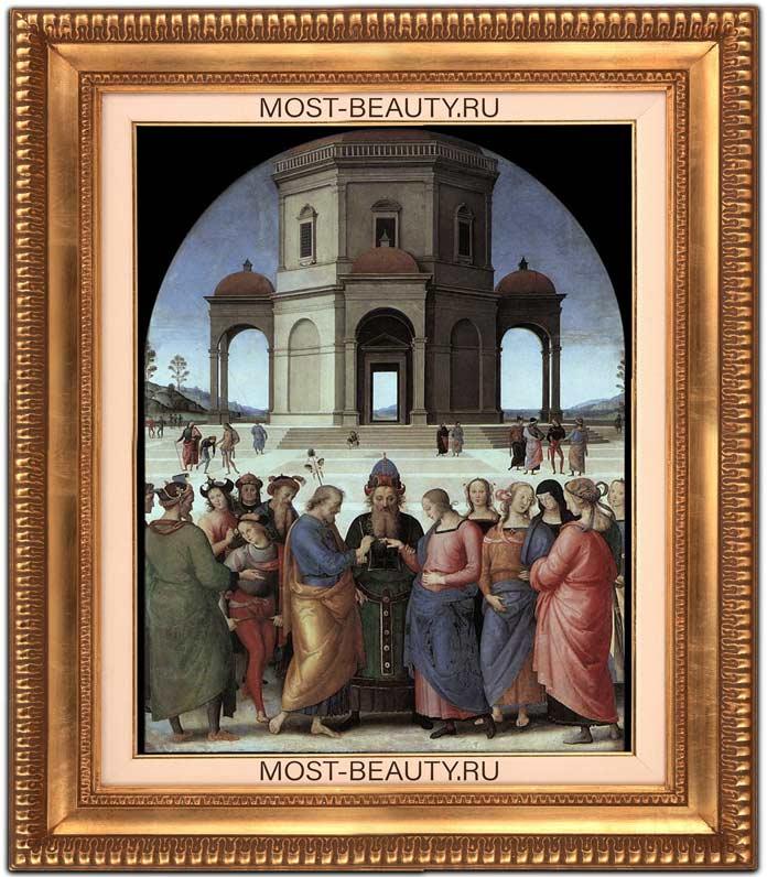 Картины Перуджино: Обручение Марии (1500–1504)