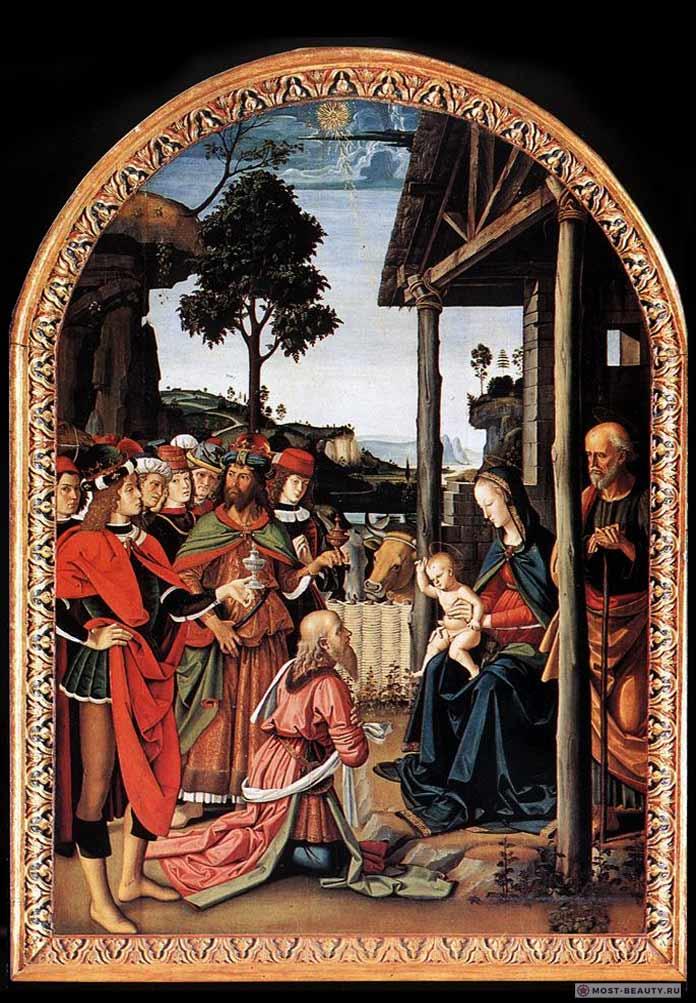 Картины Перуджино: Поклонение волхвов (Епифания)