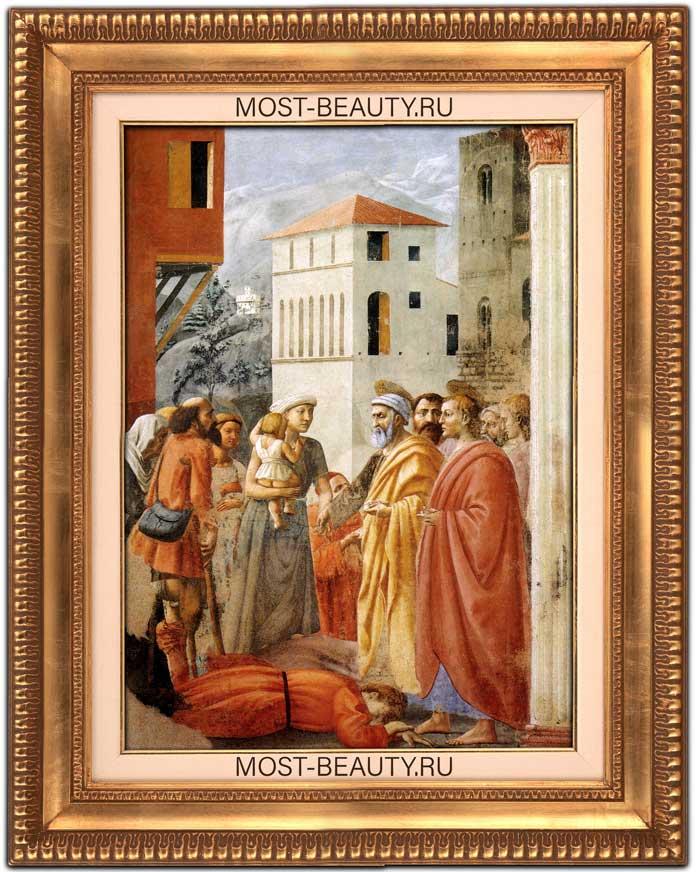 Лучшие картины Мазаччо: Раздача имущества и смерть Анании (1425)