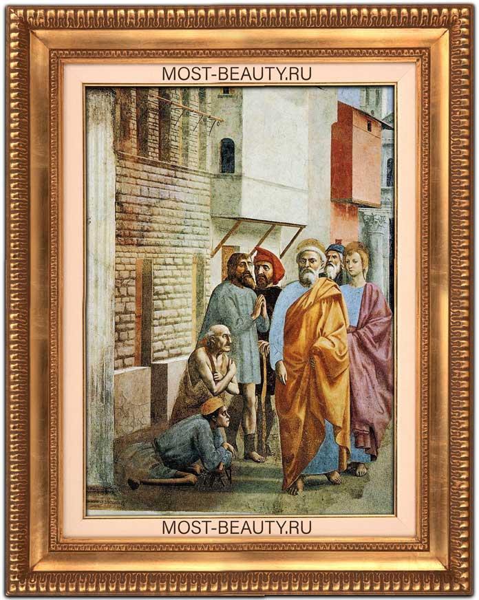Красивые картины Мазаччо: Святой Пётр исцеляет больного своей тенью