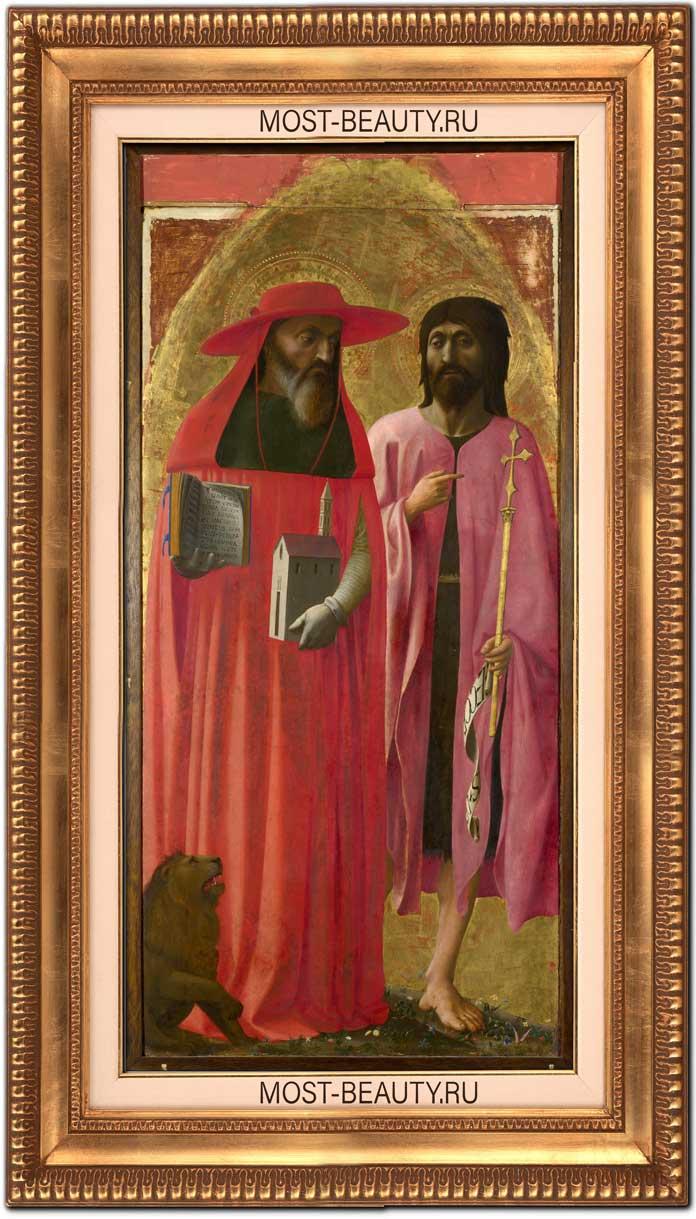 Прекрасные картины Мазаччо: Святые Иероним и Иоанн Креститель (1428)