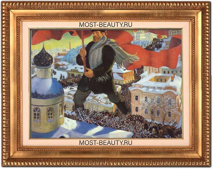 Красивые картины Кустодиева: Большевик
