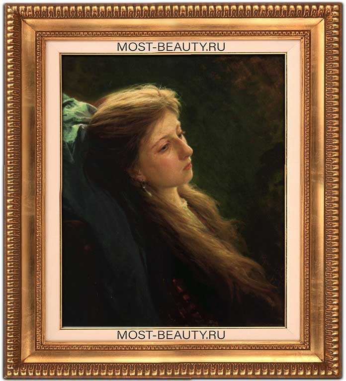 Эмоциональные картины Крамского: Девушка с распущенной косой (1873)