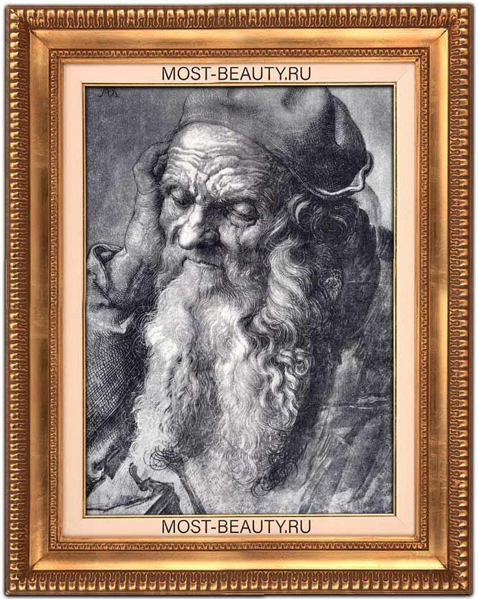 Работы Альбрехта Дюрера: Этюд 93-летнего старика (1521)