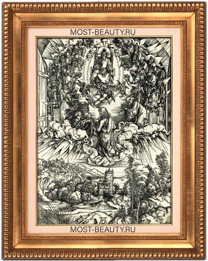Самые известные работы Альбрехта Дюрера: Иоанн перед Богом и двадцатью четырьмя старцами.