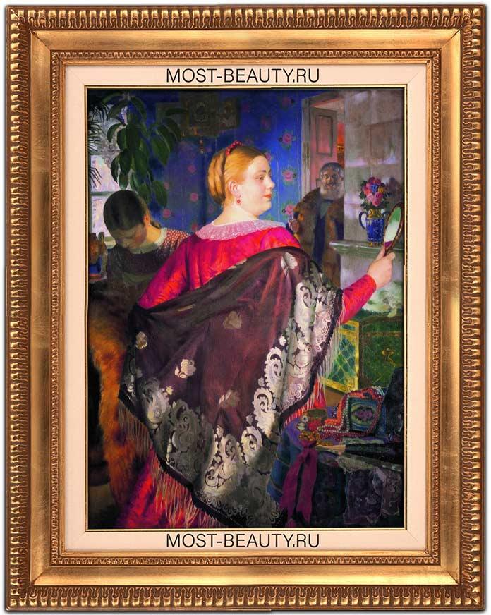 Знаменитые картины Кустодиева: Купчиха с зеркалом (1920)