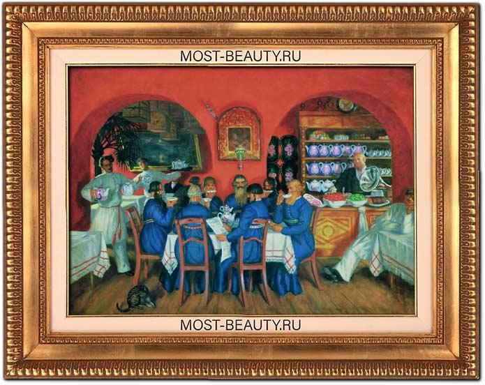 Удивительные картины Кустодиева: Московский трактир (1916)