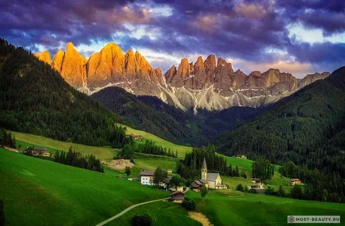 Удивительные итальянские деревни: Окрестности Церкви Св. Магдалены