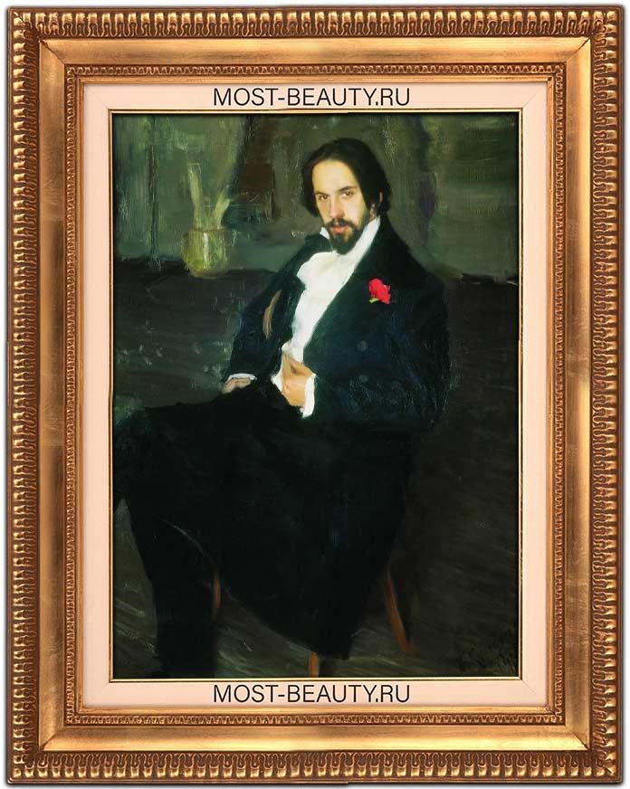 Очень красивые картины Кустодиева: Портрет И. Я. Билибина (1901)
