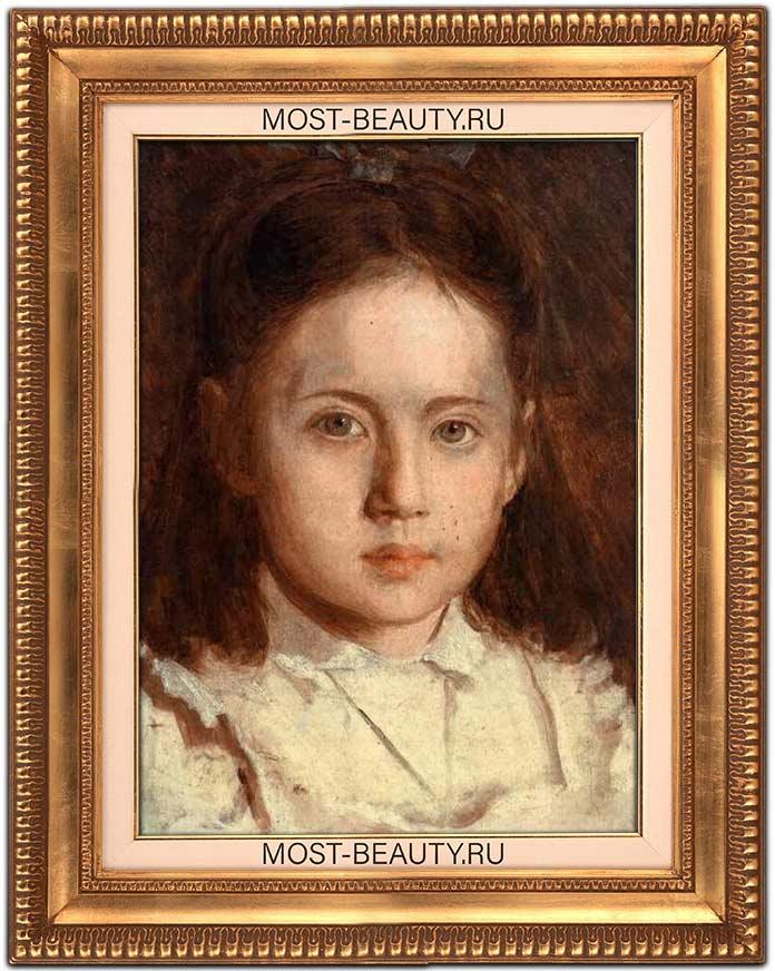 Известные картины Крамского: Портрет Сони Крамской, дочери художника (1870)