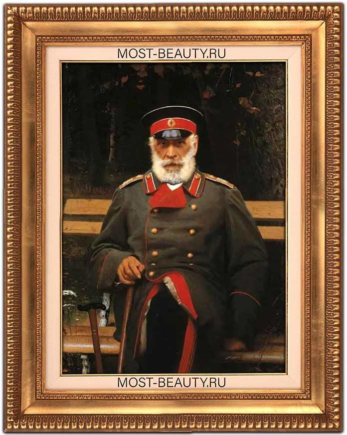 Известные картины Крамского: Портрет адмирала Л. Л. Хайдена (1882)