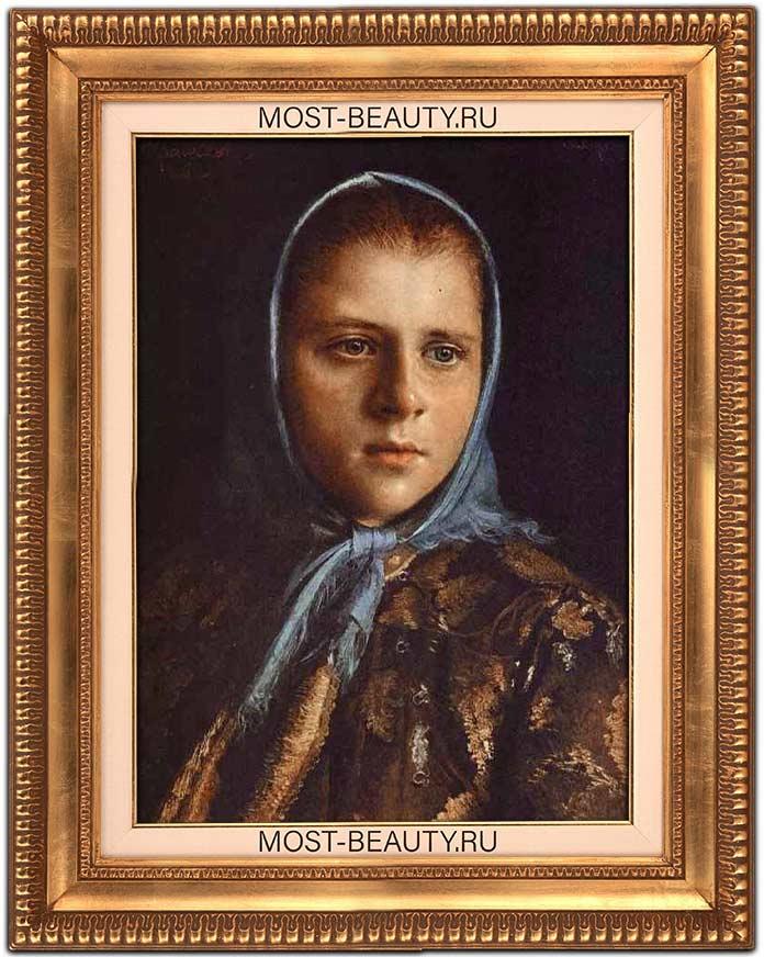 Русская девушка в голубой шали (1882)