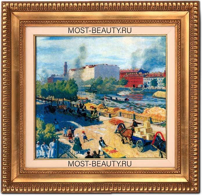 Известные картины Кустодиева: Фонтанка у Калинкина моста