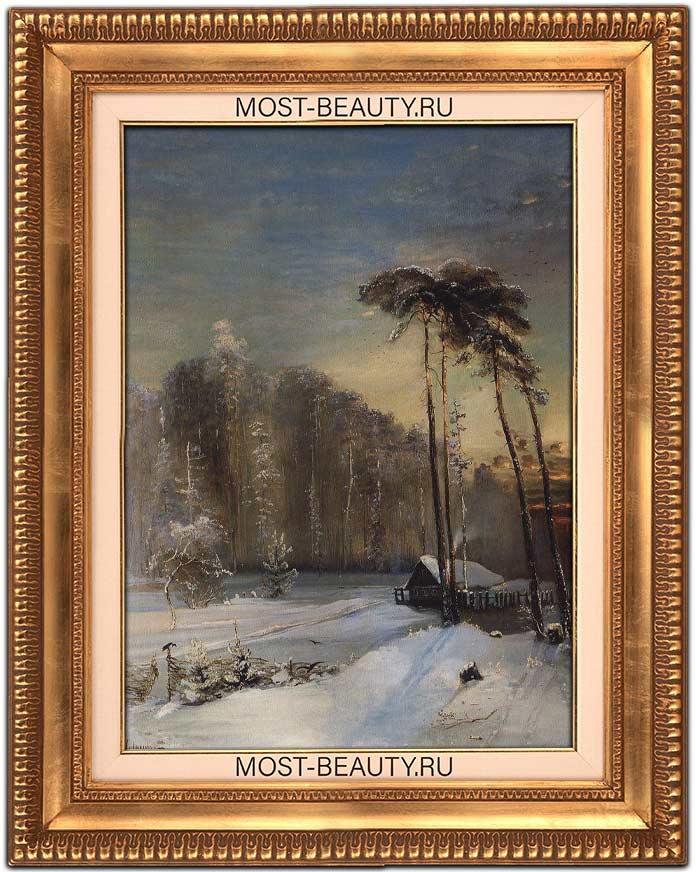 Картины Саврасова: Лес в инее