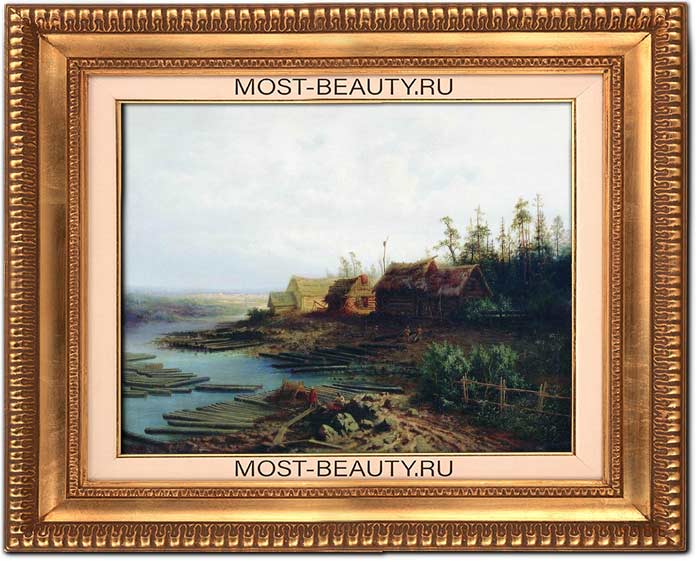 Картины Саврасова: Плоты (1868)