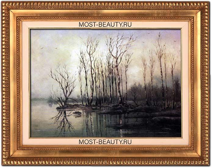 Картины Саврасова: Ранняя весна. Половодье (1868)
