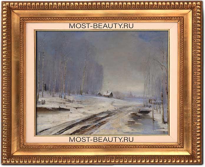 Известные картины Саврасова: Распутица (1894)