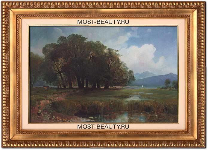 Прекрасные картины Саврасова: Швейцарский пейзаж с лошадьми