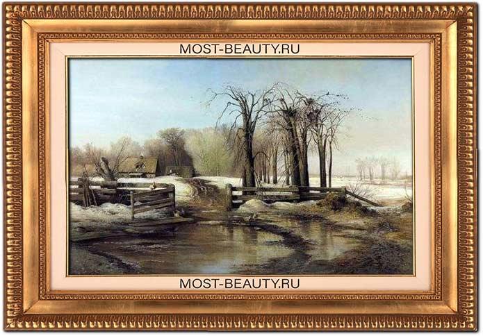 Красивые картины Саврасова: Весенний день