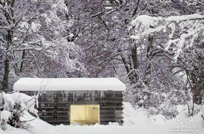 Красивая бетонная кабина