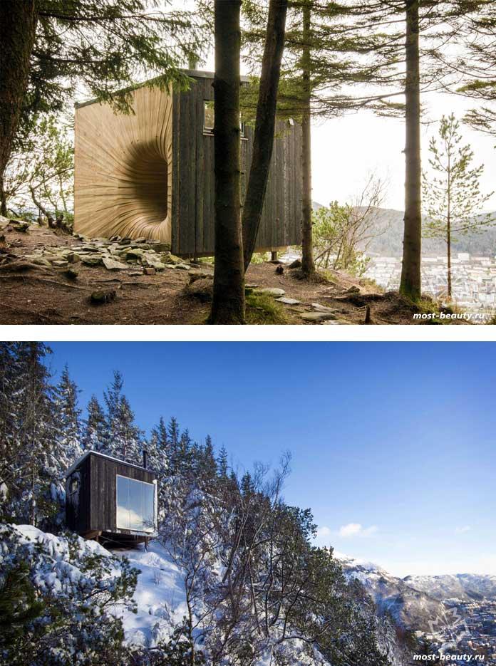 Горный домик Tubakuba - один из самых красивых домов на скалах