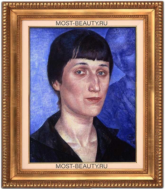 Картины Петрова-Водкина: Портрет Анны Ахматовой (1922)