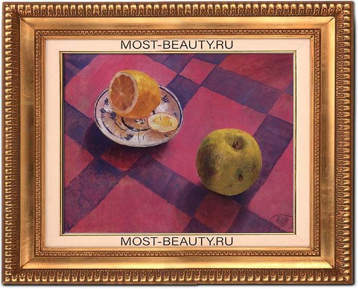 Красивые картины Петрова-Водкина: Яблоко и лимон (1930)