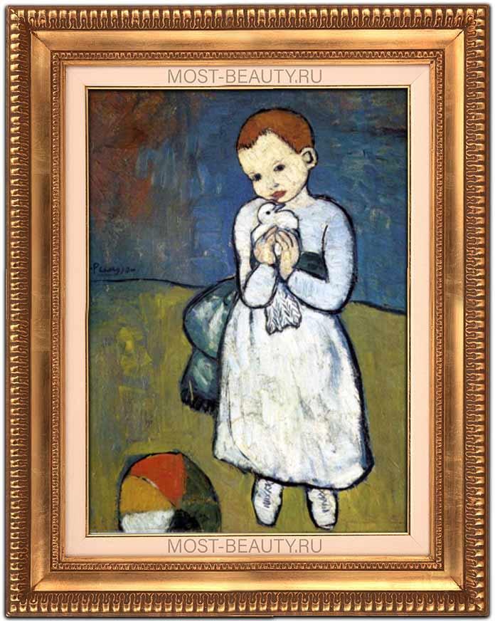 Ребёнок с голубем (1901) - одна из ранних работ Пабло Пикассо