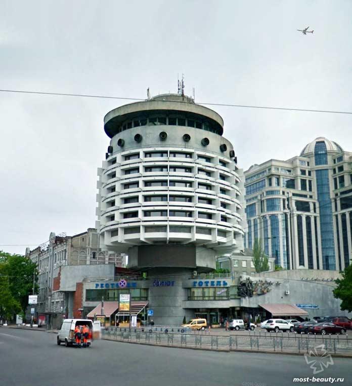 Интересные примеры советской архитектуры: Гостиница Салют в Киеве